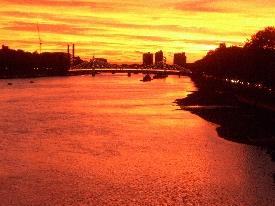Sky over Chelsea Bridge