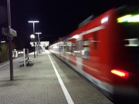 Abfahrende S-Bahn