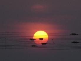 Sonnenaufgang im Januar 02