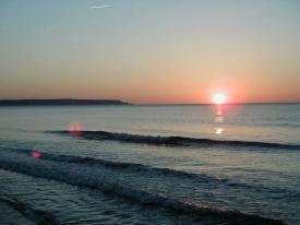 Sonnenaufgang in der Bucht von LaMarina