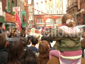 Chinese New Year - see the dancing dragon