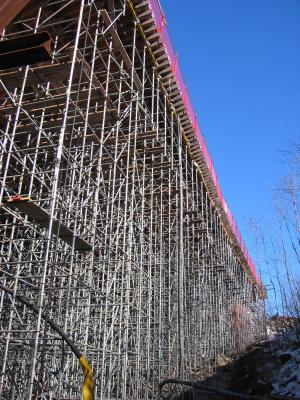 Stahlgerüst für Brückenbau