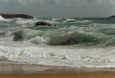 Welle die umschlägt