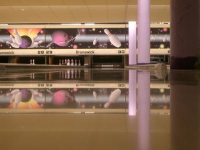 Bowling Bahn Flaeche