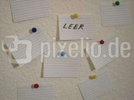 Leere Notizblätter