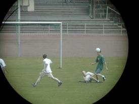 Fußball im Visier