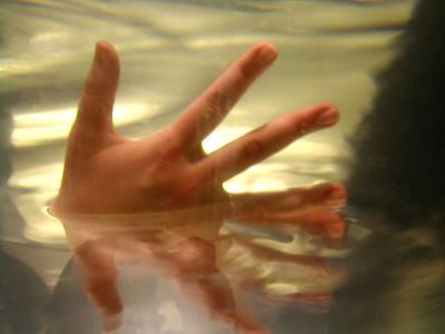 Hand in flüssigem Gold 1