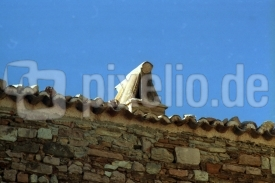 Dachkante mit Kamin
