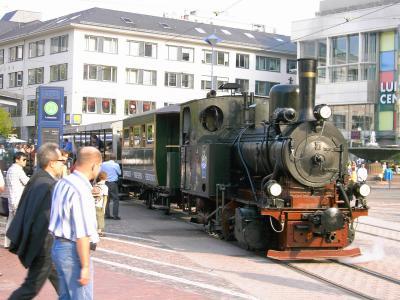 Dampfstraßenbahn in Darmstadt
