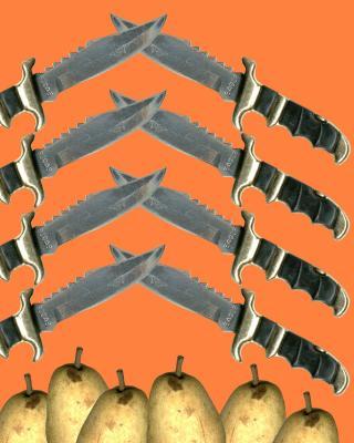 Messer und Birnen