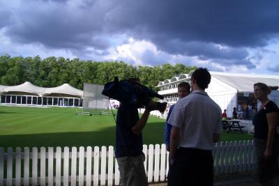 Camera Team at Cricket