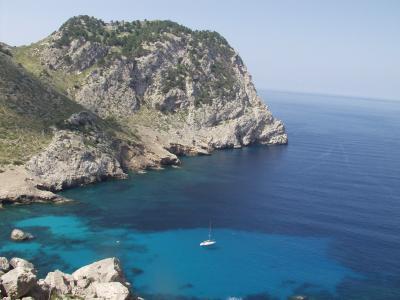 Bucht an der Nordküste Mallorcas