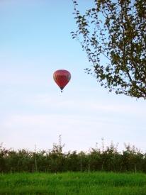 Ballon über Mostindien