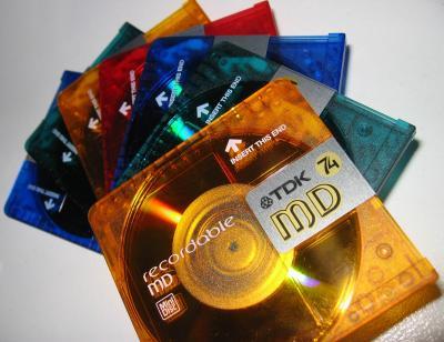 Bunte Minidisc's von TDK