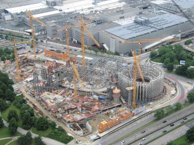 Baustelle zur neuen BMW-World