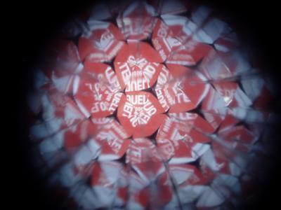 Pixelquelle im Kalleidoskop