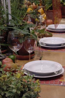 gedeckt ist der Tisch ...