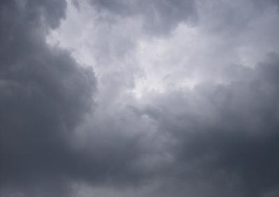 Heranziehende Gewitterwolken...