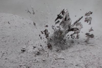 Schlamm Explosion