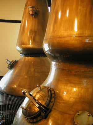 Brennkessel einer schottischen Whisky-Destillerie