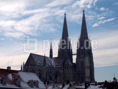 Winderlandschaft in Regensburg