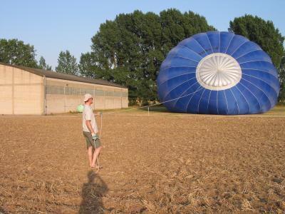 Ballon an der Leine