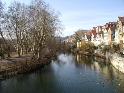 Tübingen Neckaransicht mit Hölderlinturm