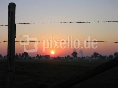 Sonnenaufgang Herbst 2003 Donautal