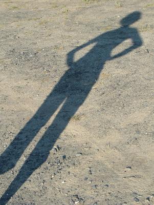Schatten einer Frau