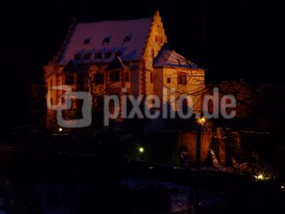 Miltenberg/Main, Abends auf der Mildenburg