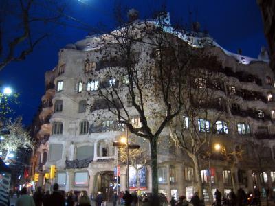 Casa Milà (Barcelona) bei Nacht