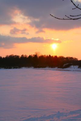 Sonnenuntergang  Flugplatz Heist