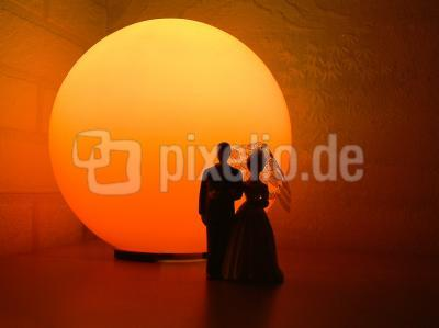 Brautpaar Silhouette