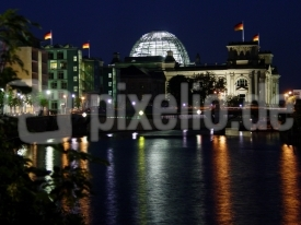 Abend am Bundestag