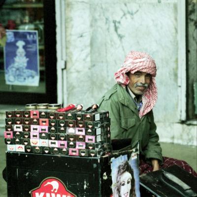 Ein Schuhputzer aus Tunis