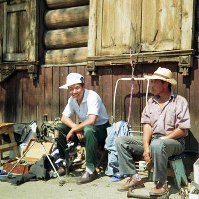 Mobile Schuster aus China in Irkutsk (Russland)
