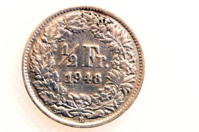 1/2 Schweizer Franken von 1948