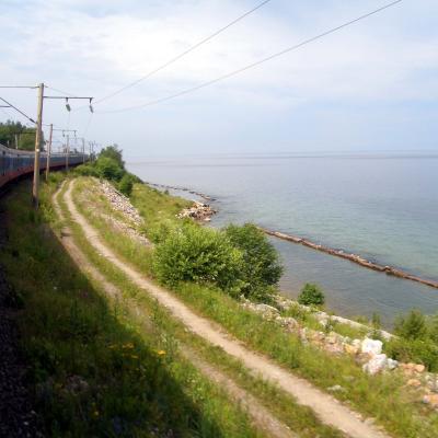 Die Transsibirische Eisenbahn am Baikalsee