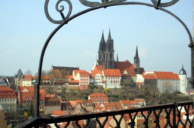 Meissener Dom vom Turm der Frauenkirche