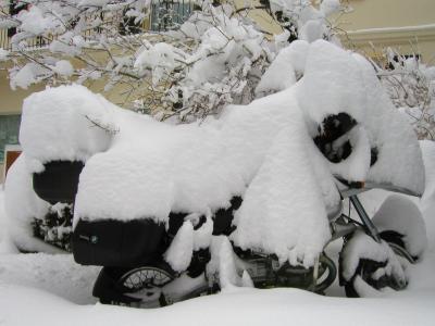 Motorrad im Winterschlaf