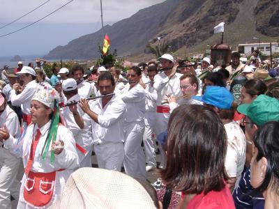 Folkloregruppe an der Bajada