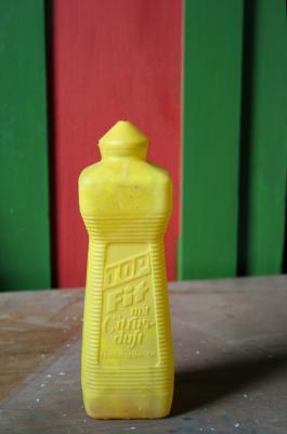 Fitflasche in gelb