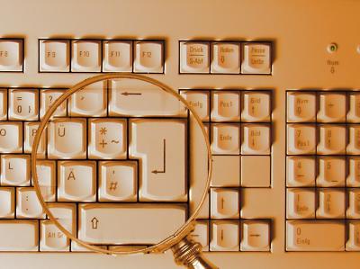 Tastatur mit Lupe