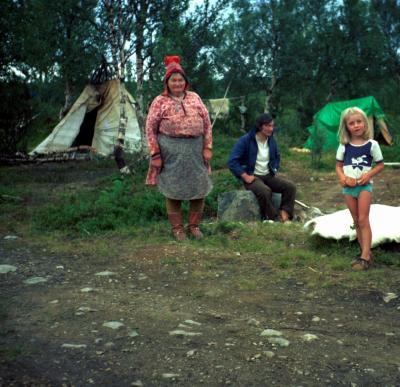 Besuch bei Lappen (s. Anmerkung unten)  in Schweden