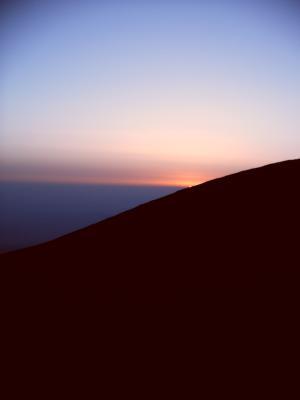 Sonnenuntergang am Etna