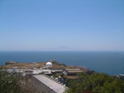 Straße von Gibraltar im Hintergrund liegt  Afrika