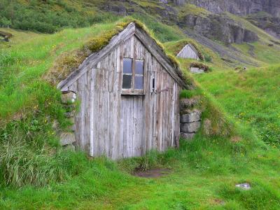 Kostenloses foto island grassoden haus for Haus island