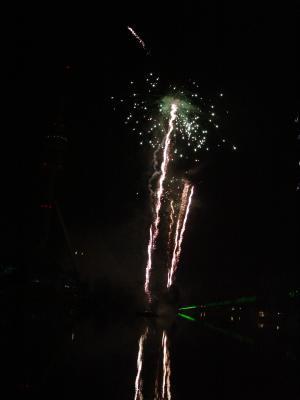 Feuerwerk am Olympiasee