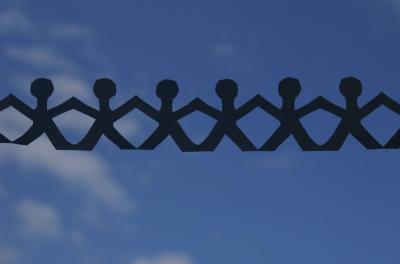 Papierkette - Himmel