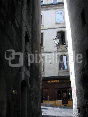 Gasse in der Altstadt von Genf